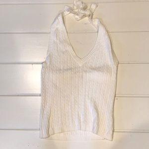 Tops - White knit halter